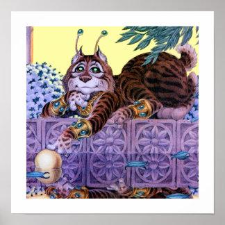 Alien Kitty Print