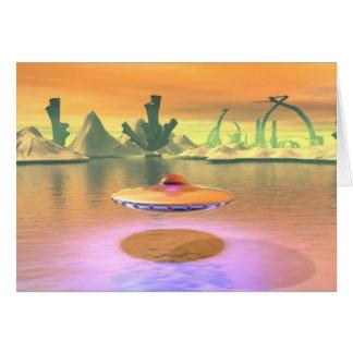 Alien Lake UFO Take Off Card