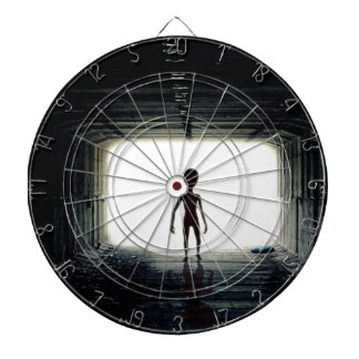 Alien Leaving Spaceship Dartboard