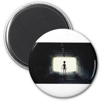 Alien Leaving Spaceship Magnet