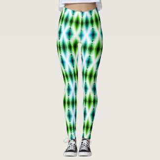 Alien Light Beam Bright Blue Green Teleport Future Leggings
