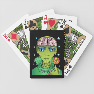 Alien Lollipop Bicycle Playing Cards