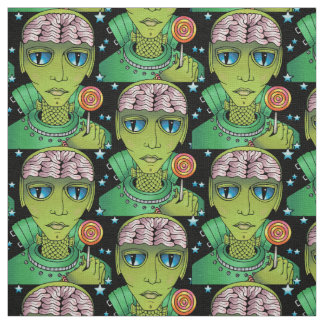 Alien Lollipop Fabric