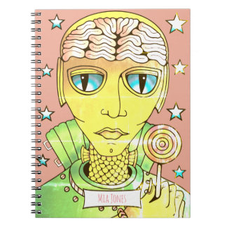 Alien Lollipop Notebooks