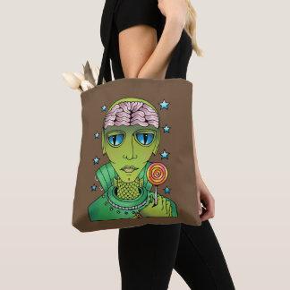 Alien Lollipop Tote Bag
