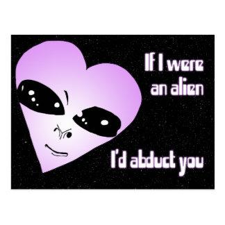 Alien Love Postcard