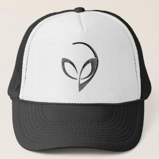 """Alien Mascot in """"Moon"""" Trucker Hat"""