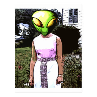 Alien Mom Postcard
