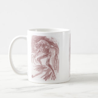 Alien Monster with a Chainsaw Hand *Tinted* Al Rio Basic White Mug