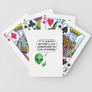 Alien Mother's Day Bicycle Playing Cards