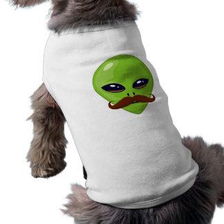 Alien Mustache Sleeveless Dog Shirt