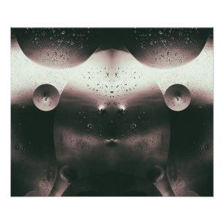 Alien Oil Droplets Monochrome Photo Print