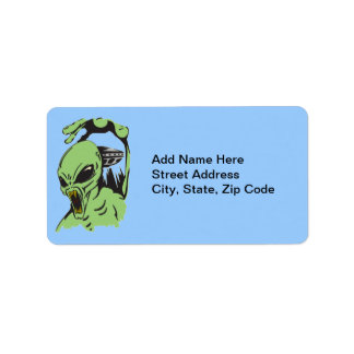 Alien On The Attack Address Label