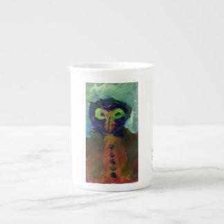 Alien/owl figure mug