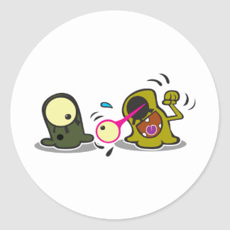 Alien Party Trick Classic Round Sticker