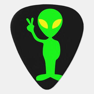 Alien Peace Sign Little Green Men Plectrum