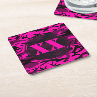 Alien Pink Camouflage Coaster w/ Text