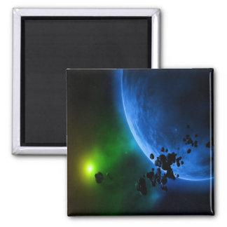 Alien Planets Square Magnet