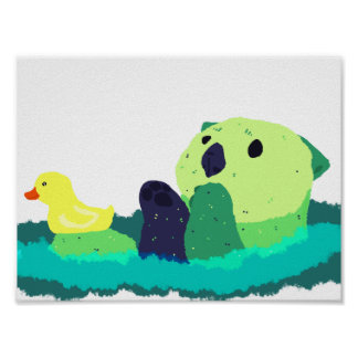Alien pop otter poster