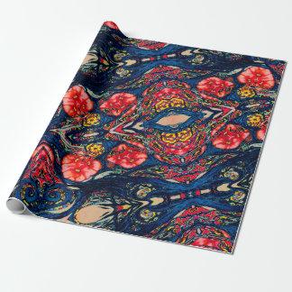 Alien Poppy Pattern Wrapping Paper