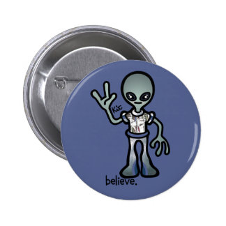 alien probe. 6 cm round badge