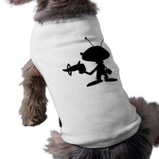 Alien Raygun Sleeveless Dog Shirt