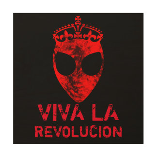 Alien Revolution Wood Canvas
