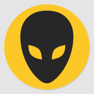 alien round sticker
