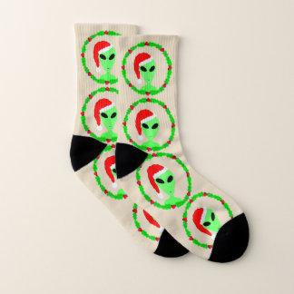 Alien Santa Holly Wreath SML Fun Ugly Christmas 1