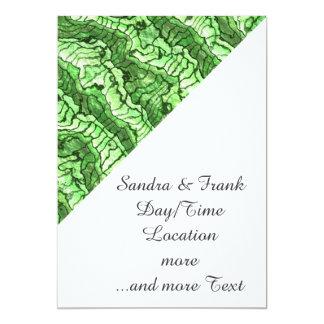 alien skin green 13 cm x 18 cm invitation card