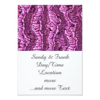 alien skin hot pink 13 cm x 18 cm invitation card
