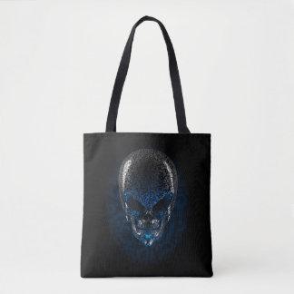 Alien Skull All-Over-Print Tote Bag
