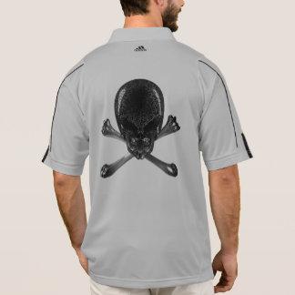 Alien Skull and Crossbones Adidas Polo Shirt
