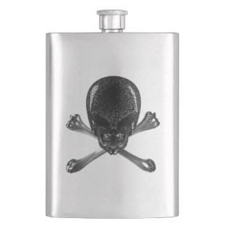 Alien Skull and Crossbones Classic Flask