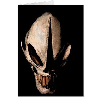 Alien skull cards