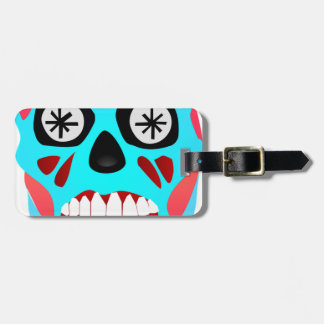 Alien Skull Luggage Tag