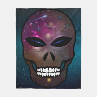 Alien Skull Throw Blanket Home Decor Creatures