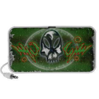 alien skull travel speakers