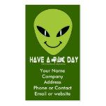 Alien Smiley Face Business - Profile Card