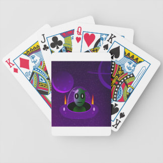 Alien space bicycle playing cards