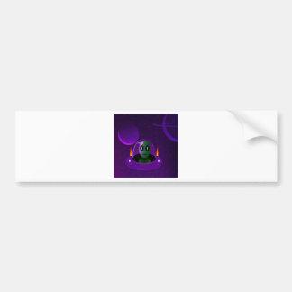Alien space bumper sticker