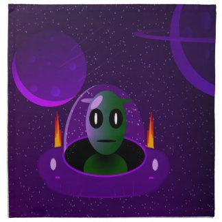 Alien space napkin