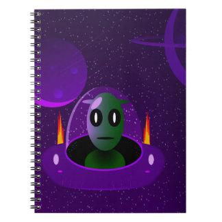 Alien space notebook