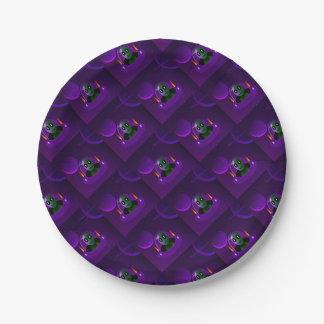 Alien space paper plate