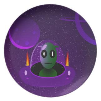 Alien space plate