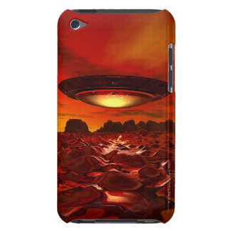 Alien spacecraft over an alien planet, computer Case-Mate iPod touch case