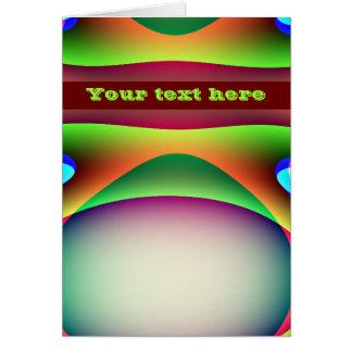 Alien Spaceship Custom Greeting Card