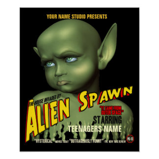 Alien Spawn B-Movie Customizable Poster