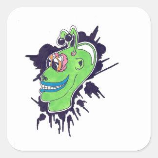 Alien Square Sticker