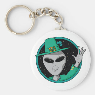 Alien St Pattys Day Key Chain